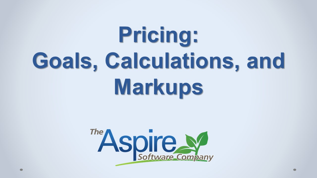 Pricing Goals, Calculations, and Markups