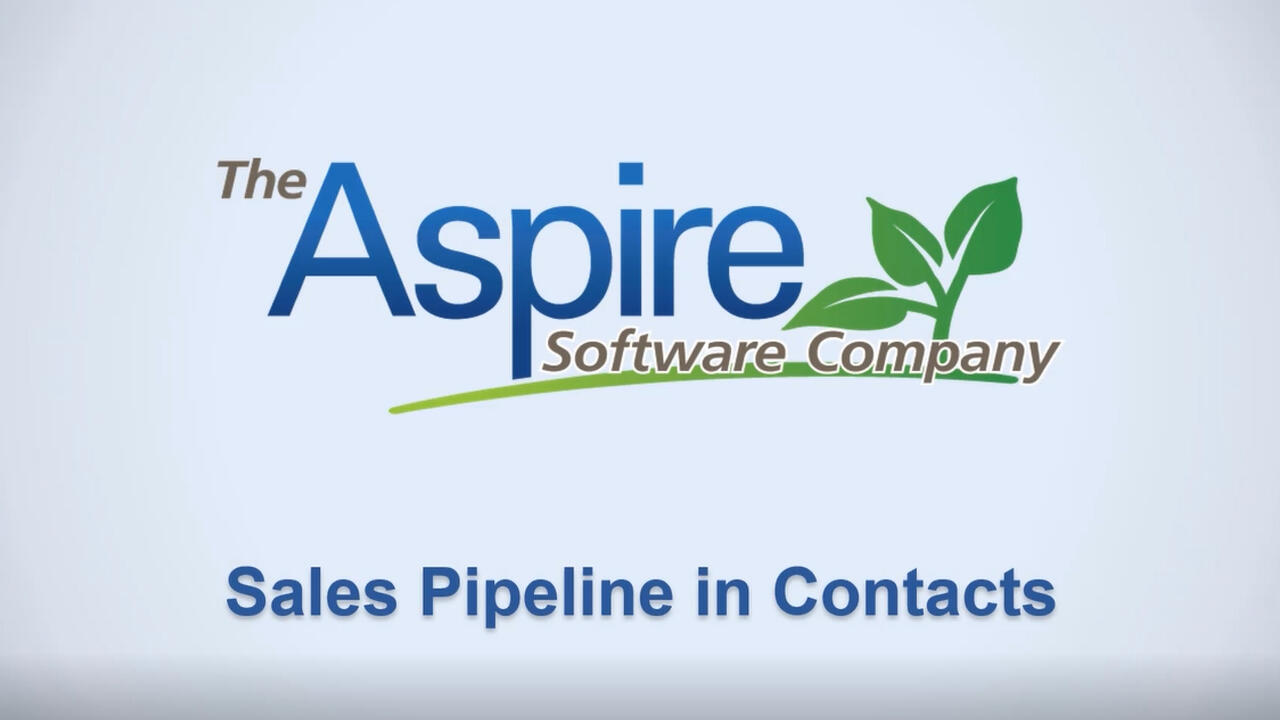 Sales Pipeline in Contacts
