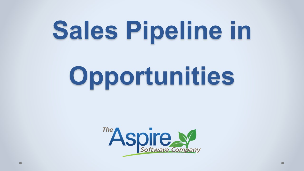 Sales Pipeline in Opp_New