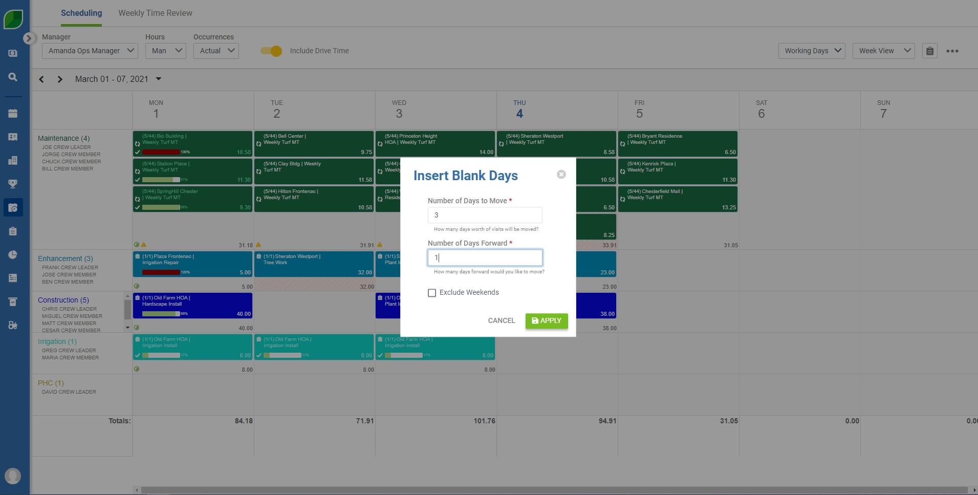 Scheduling 02.1