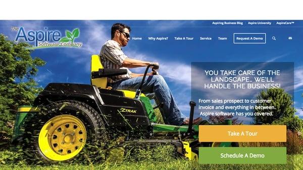 New Aspire website redesign