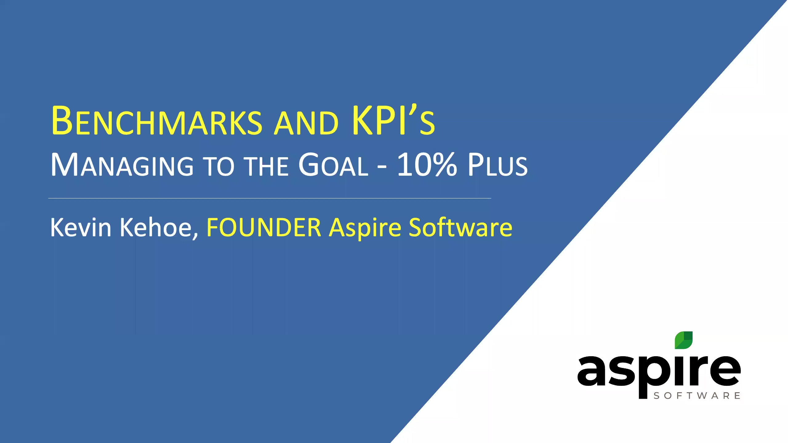 Webinar - Benchmarks and KPIs - The Road to Higher Profits-thumb