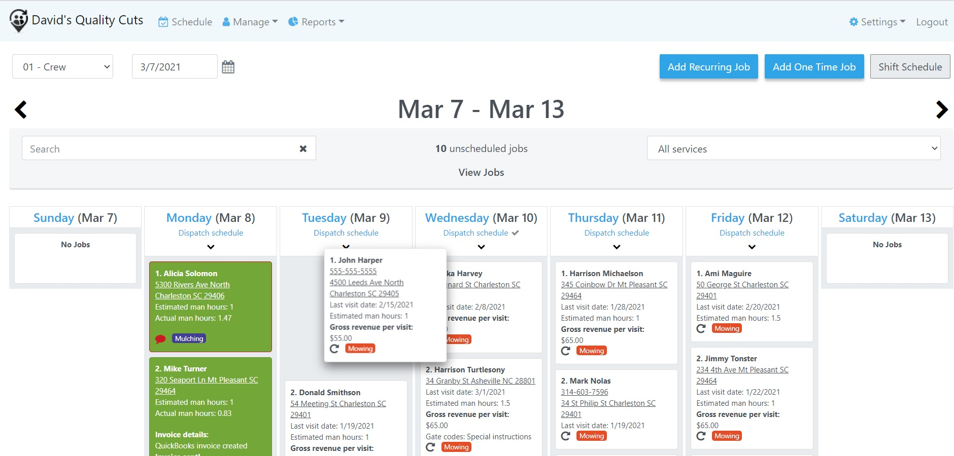 Laptop - simplified scheduling