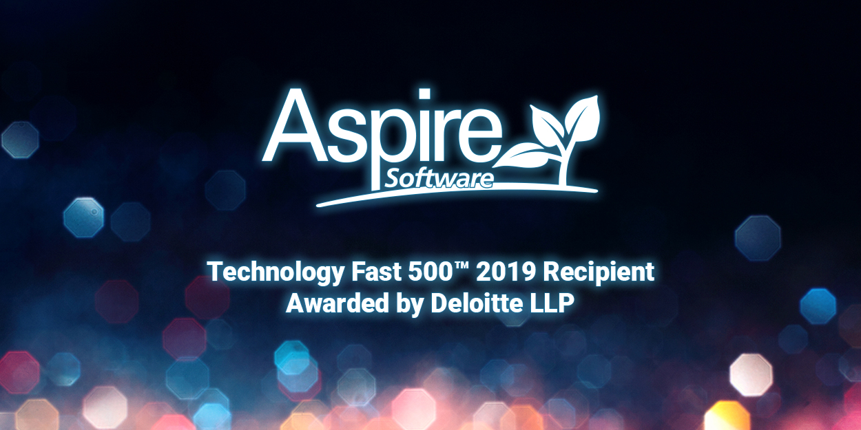 Aspire Software Recognized for Rapid Growth on Deloitte's 2019 Technology Fast 500™